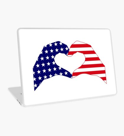 We Heart the United States of America Patriot Series Laptop Skin