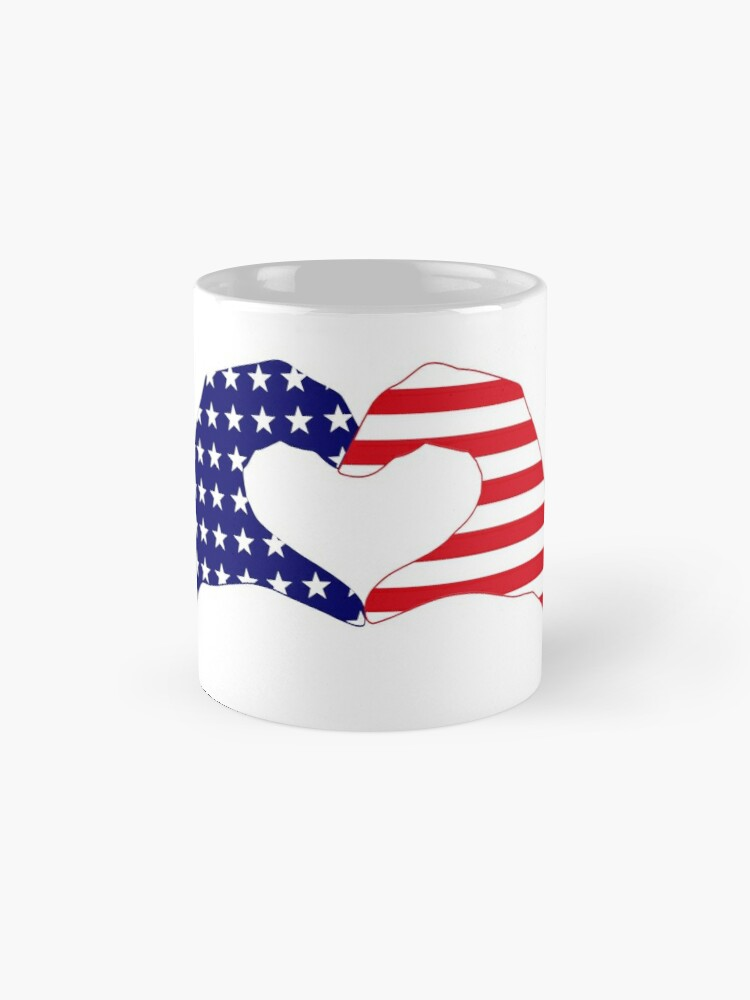 Alternate view of We Heart the United States of America Patriot Series Mug
