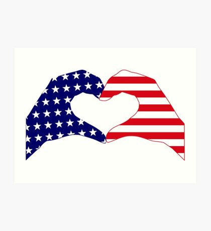 We Heart the United States of America Patriot Series Art Print