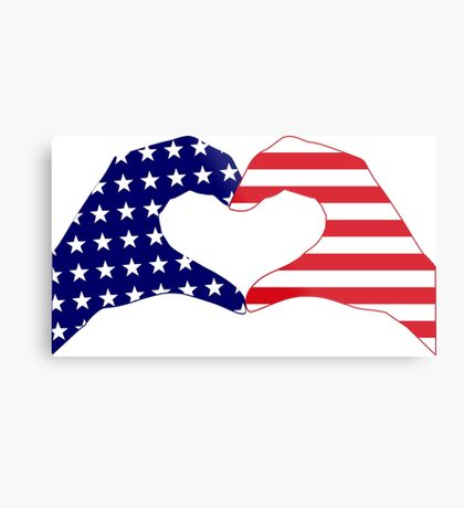 We Heart the United States of America Patriot Series Metal Print