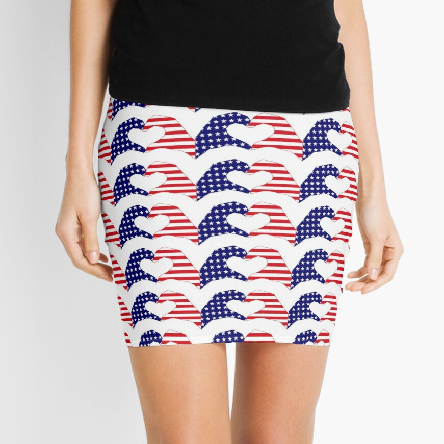 We Heart the United States of America Patriot Series Mini Skirt