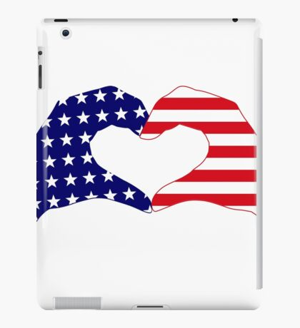 We Heart the United States of America Patriot Series iPad Case/Skin