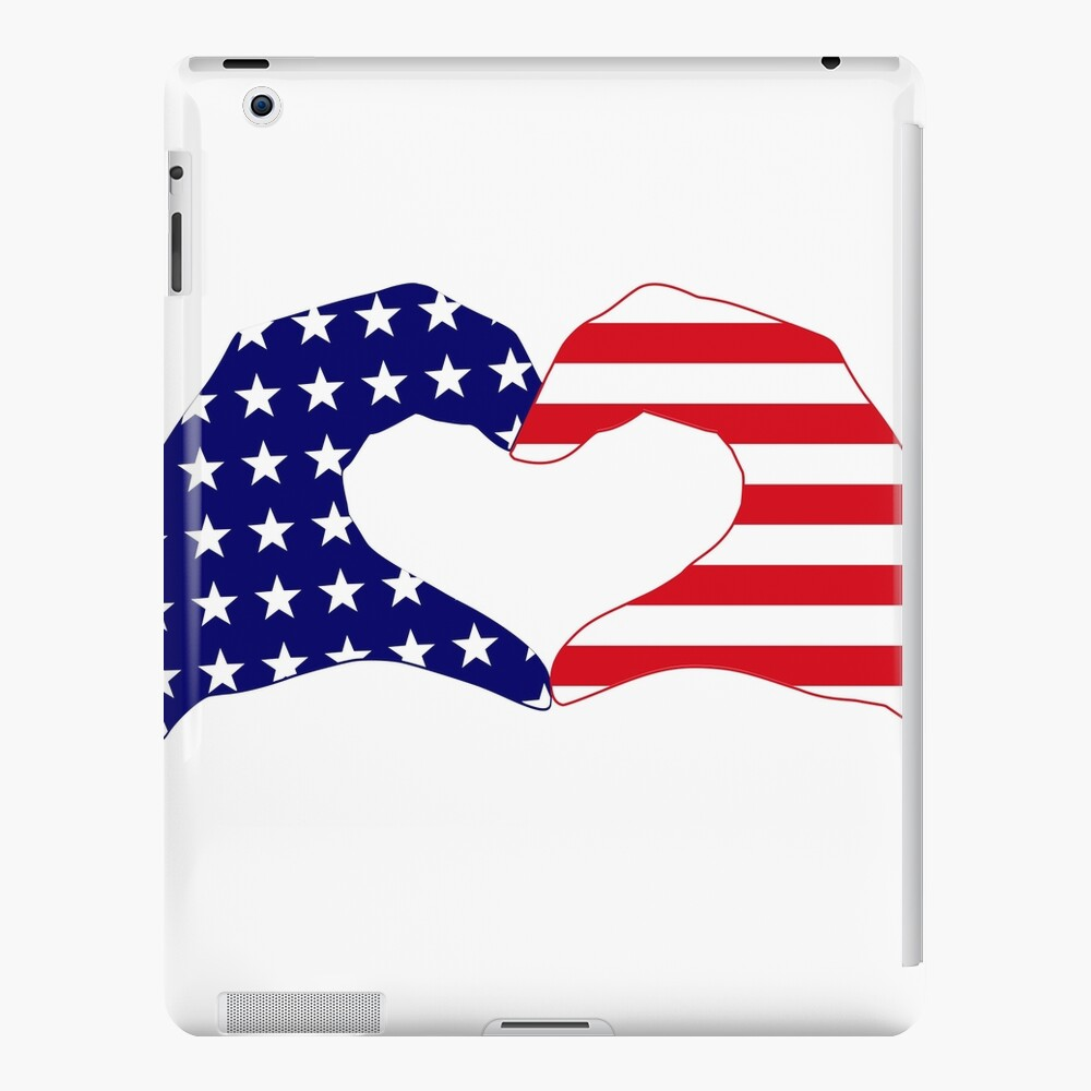 We Heart the United States of America Patriot Series iPad Case & Skin