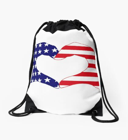 We Heart the United States of America Patriot Series Drawstring Bag