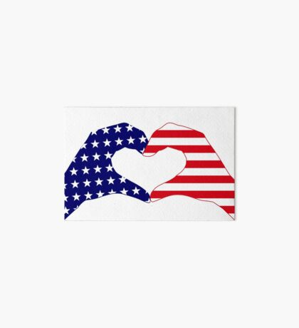 We Heart the United States of America Patriot Series Art Board Print