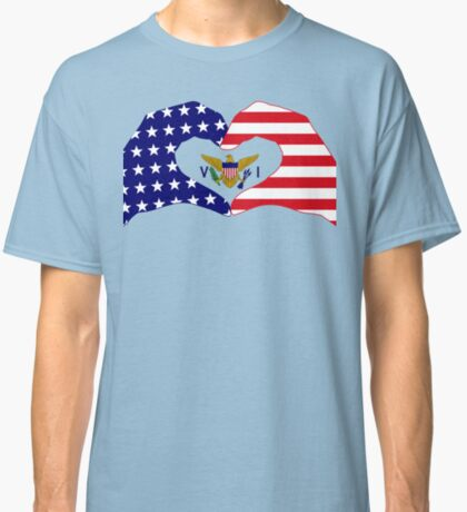 We Heart U.S. Virgin Islands Patriot Series Classic T-Shirt