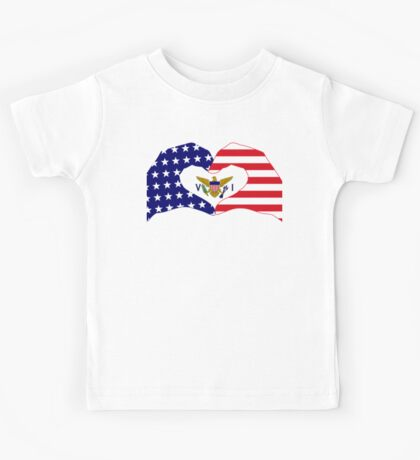 We Heart U.S. Virgin Islands Patriot Series Kids Clothes