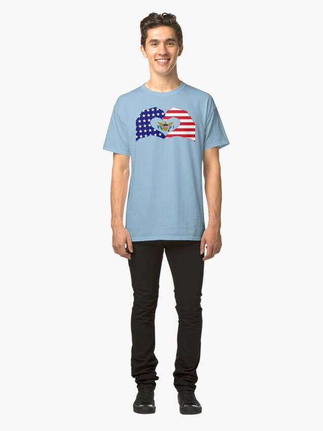 Alternate view of We Heart U.S. Virgin Islands Patriot Series Classic T-Shirt