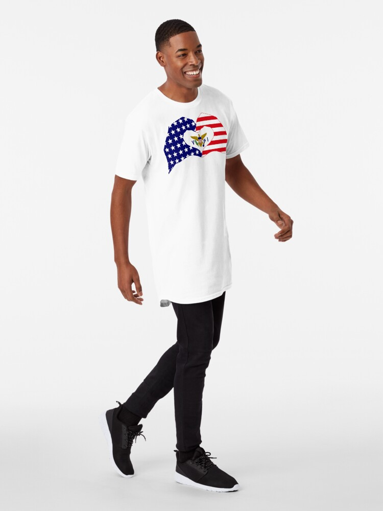 Alternate view of We Heart U.S. Virgin Islands Patriot Series Long T-Shirt