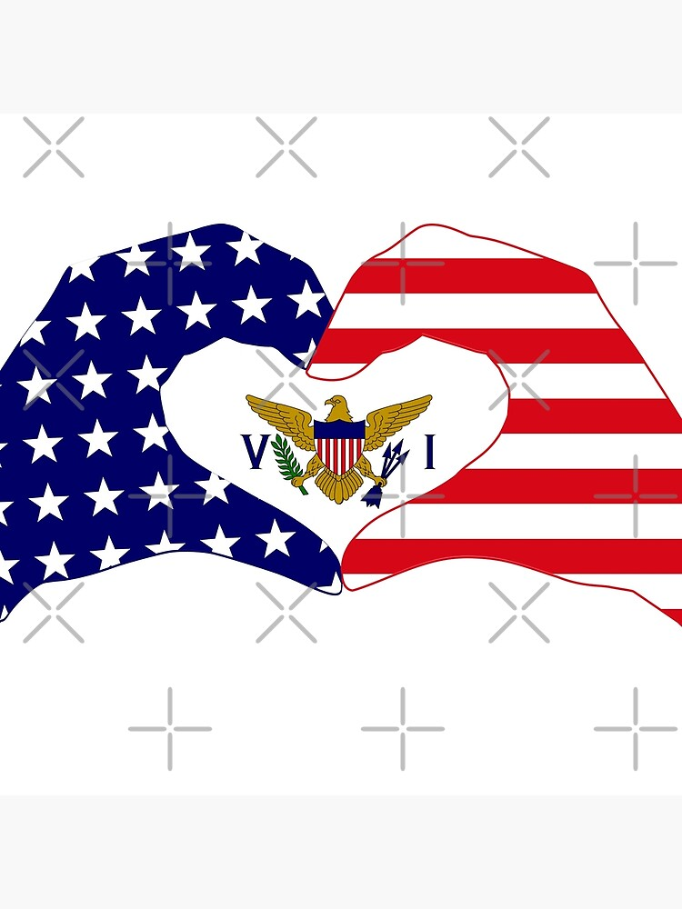 We Heart U.S. Virgin Islands Patriot Series by carbonfibreme