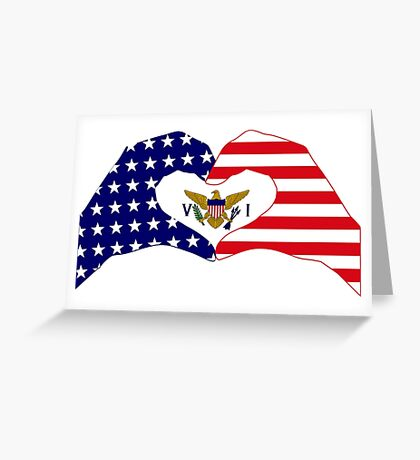 We Heart U.S. Virgin Islands Patriot Series Greeting Card