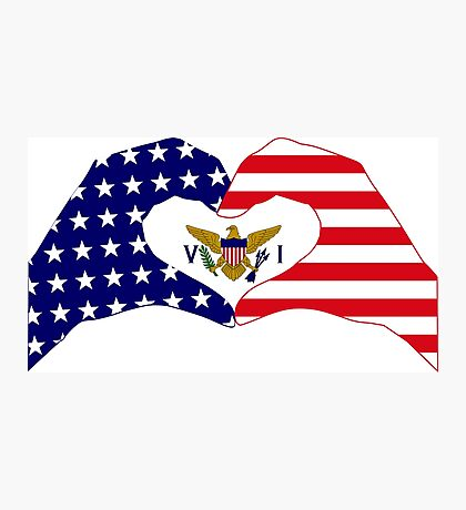 We Heart U.S. Virgin Islands Patriot Series Photographic Print