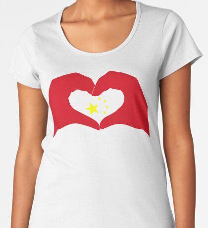 We Heart China Patriot Flag Series Premium Scoop T-Shirt