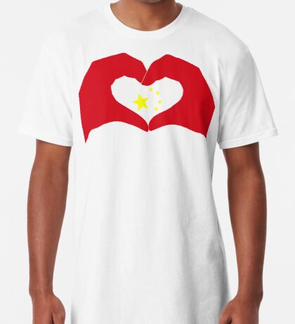 We Heart China Patriot Flag Series Long T-Shirt