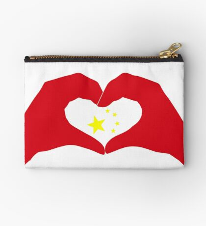 We Heart China Patriot Flag Series Zipper Pouch