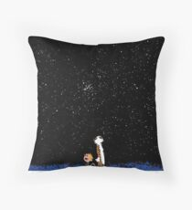 Calvin and Hobbes Staring into the Sky Throw Pillow