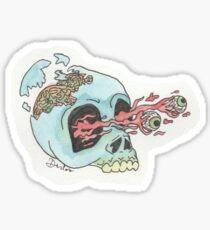 skull cracking Sticker