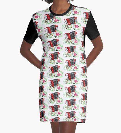 Vintage Akkordeon 2 T-Shirt Kleid