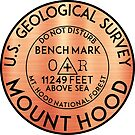 Mount Hood Benchmark Bench Mark National Forest Cascade Range Cascades by MyHandmadeSigns