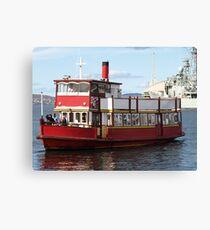 Water Taxi, Hobart Tasmania Canvas Print
