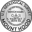 Mount Hood Benchmark Bench Mark National Forest Cascade Range Cascades 2 by MyHandmadeSigns