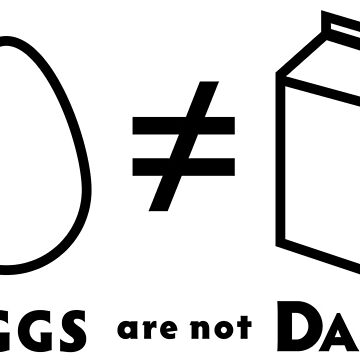 "PATG ""Eggs Are Not Dairy"" by DoomsDayDevice"