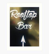 Rooftop Bar Art Print