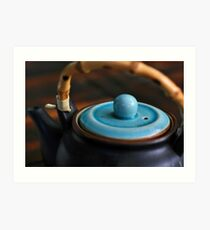 gentle afternoon pu-erh tea and japanese teapot Art Print