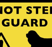 Humorous Cavalier King Charles Spaniel Guard Dog Warning Sticker