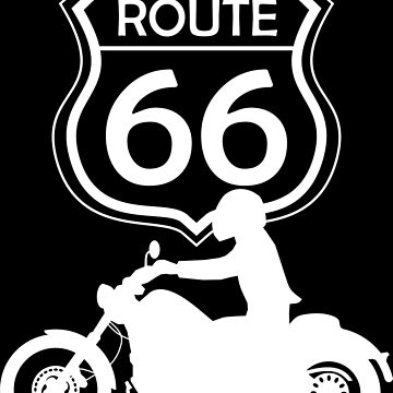 Route 66 travel patch for motorcycle fans by MegaSitioDesign