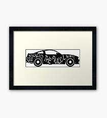 Muscle Car Love  Framed Print
