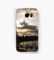 silver beach sunset Samsung Galaxy Case/Skin