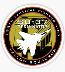 Yellow Squadron Terminator Patch Sticker