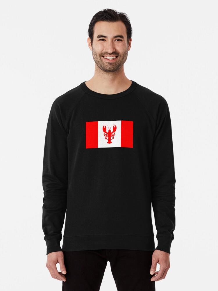 bf0ae2eb1b3 Jordan B Peterson Lobster Canadian Flag JBP shirt Lightweight Sweatshirt