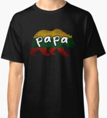 Lithuanian Papa Bear Bear Family Lithuania Matching Gift Patriotic Father's Day Dad Father Grandpa Grandfather Couple Classic T-Shirt