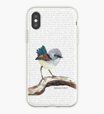 Don't worry, bird watercolor / Matthew 6:26-27 iPhone Case