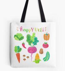 Happy Vegetables  Tote Bag