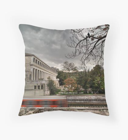Haunted train Throw Pillow