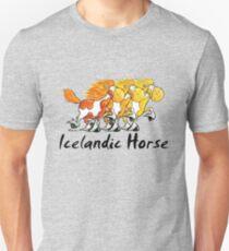 Threw Icelandic Horses - Horse - Comic - Gift Slim Fit T-Shirt