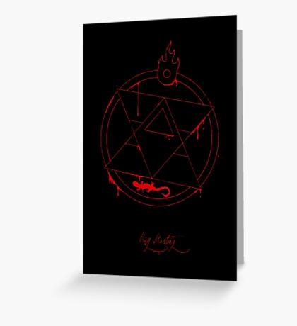 Roy Mustang - Blood Transmutation Circle Greeting Card
