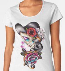 Traditional Tattoo - Sugar Skull Women's Premium T-Shirt