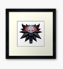 Witcher Medallion Geometric Art Framed Print