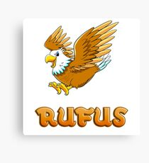 Rufus Eagle Sticker Canvas Print