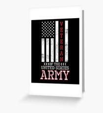 Army Veterans Greeting Card