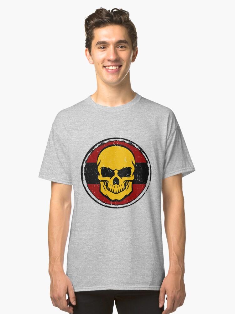 GERMANY skull football championship ball gift idea Classic T-Shirt Front