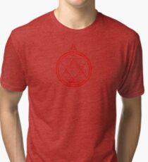 Flame Transmutation Circle - Roy Mustang Tri-blend T-Shirt