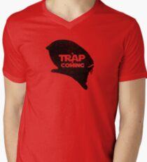 A Trap is Coming - black Men's V-Neck T-Shirt