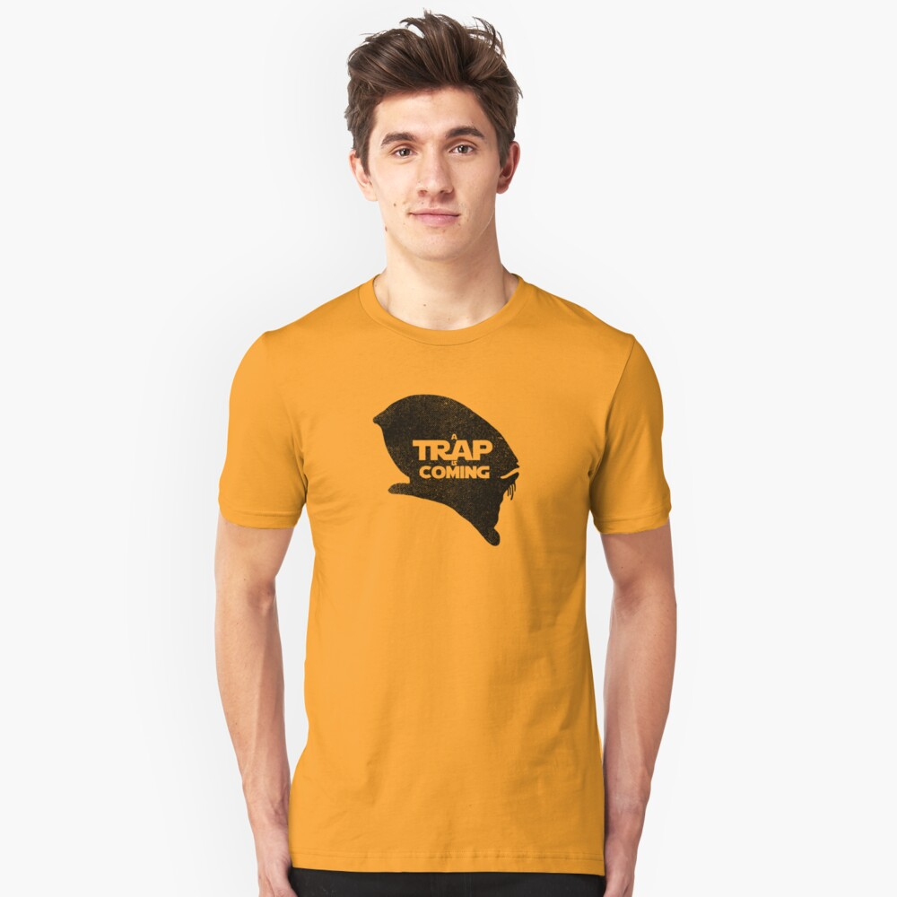 A Trap is Coming - black Unisex T-Shirt Front