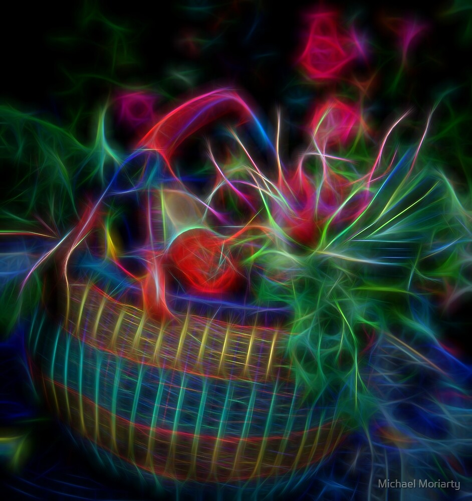 Neon Basket of Produce by Michael Moriarty