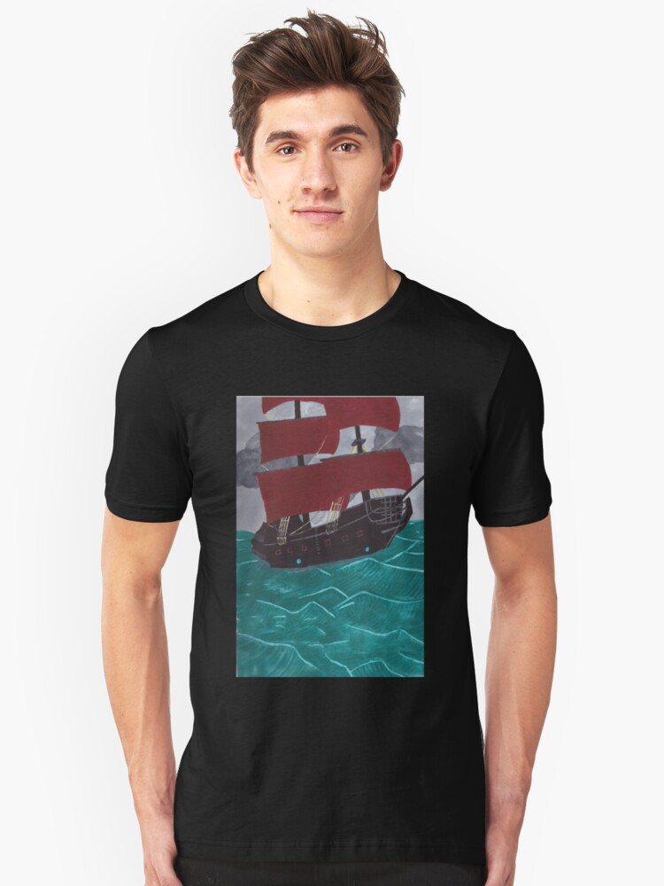 Ghost ship Unisex T-Shirt Front